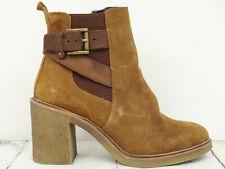 GAMLOONG ❤ Damen Stiefeletten Gr. 40 Wildleder Braun Schuhe Shoe Chaussure