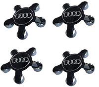 Schwarz 4 x 135mm Audi Alufelge Nabenkappen Nabendeckel Satz 4F0601165N