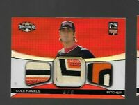 2008 TOPPS TRIPLE THREADS ALL STAR PATCH #D 4/9 COLE HAMELS PHILLIES CARD NASTY