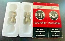 2 NOS RCA 7587 Nuvistor Vacuum Tubes - Date Matched 5-52