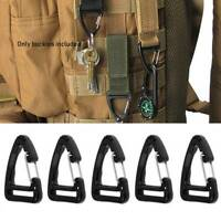 5Pcs Plastic Alloy Triangle Keychain Buckles Spring Belt Clip Hooks Backpack DP/