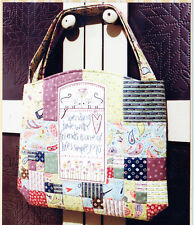 PATTERN - Sunshiny Day Bag - stitchery & pieced bag PATTERN -The Birdhouse