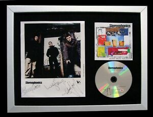 STEREOPHONICS+SIGNED+FRAMED+WORD GETS AROUND=100% AUTHENTIC+EXPRESS GLOBAL SHIP