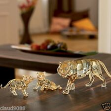 SWAROVSKI SILVER CRYSTAL 2010 ANNUAL S.C.S. TIGER WITH 2 CUBS MINT IN BOX
