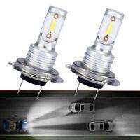 1Pair H7 LED Headlight Bulbs Conversion Kit Hi/Lo Beam 1000LM 6000K Super White