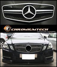 2009-2013 Mercedes W212 E-Class Saloon or Estate BLACK CHROME Grille E63 1-Fin