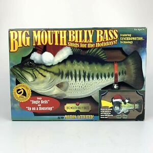 NEW Big Mouth Billy Bass Sings For The Holidays in Box NIB Jingle Bells