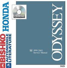 1999 2000 2001 2002 2003 Honda Odyssey Shop Service Repair Manual CD