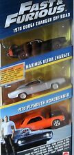 Mattel 1:64 Fast & Furious-trois pièces-DODGE Maximus Plymouth... Comme neuf SEALED
