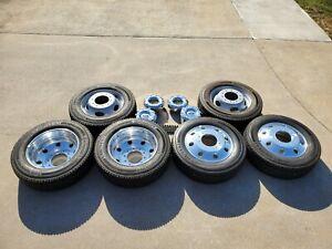 Ford Superduty F450 F550 OEM Aluminum Wheels Center Caps & Lug Nuts Set of 7