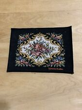 Nice Sylvanian families Dollhouse Size Rug-black Background-floral Print