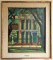 "Larry Edwardson ""King Mansion"" (New Orleans) Oil on Masonite"