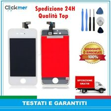 TOUCH SCREEN+LCD DISPLAY RETINA FRAME PER APPLE IPHONE 4 4G BIANCO VETRO SCHERMO