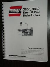 Ammco 3850 3860 Brake Lathe Parts Manual