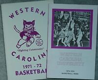 2 WESTERN CAROLINA CATAMOUNTS BASKETBALL MEDIA GUIDES 1971-72, 1973-74