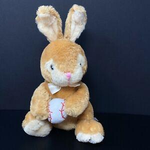 "Dan Dee Bunny Rabbit Plush with Baseball Tan Brown Bow 12"" Easter FAST SHIPPING"