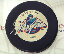 Sean Bergenheim New York Islanders signed Logo puck LOM COA