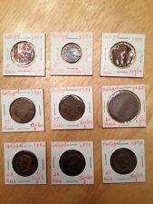Portugal  Coins 1880-1901. 5, 10, 20 Reis See DESCRIPTION for Details  (9 Coins)