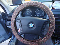 Hand Made Steering Wheel Covers Animal Print