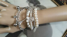 Pearl Leather Beaded Fashion Bracelets