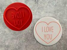 I Love You Embosser Stamp Red Valentine's Cookie Fondant