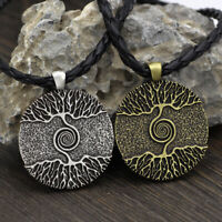 Mens Vintage Norse Viking Tree of life Odin Warrior Necklace Jewelry Amulet