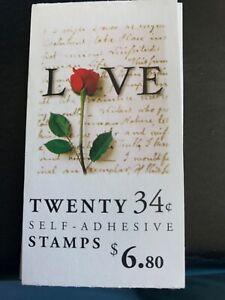 Scott BK285 3498 UN-Opened Love MNH Free shipping in USA!