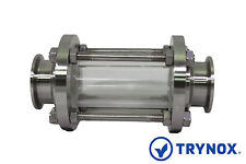Tri Clamp Flow Sanitary Stainless Steel 316L 4'' Sight Glass Trynox