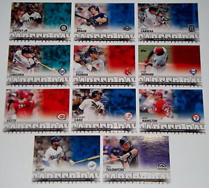 2012 Topps Career Day SP Lot of 11 KEN GRIFFEY JR Dustin Pedroia MIGUEL CABRERA+