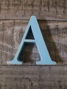 "Pottery Barn Blue Letter ""A"""