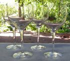 Set of FOUR Orrefors Crystal Illusion White Wine Goblets