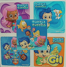 """20 BUBBLE GUPPIES  2.5"""" x 2.5"""" Party Favour Stickers"""