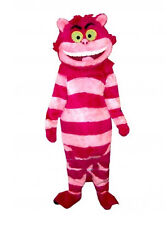 TOP SALE! Cheshire Cat Mascot Costume Fancy Party Dress Outfit Adult Parade Suit