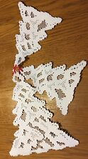 "Heritage Lace ""White"" Christmas Tree's Window Decor 3 in set  (482)"