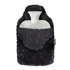 Fashy Hot Water Bottle with Ebony Soft Luxury Faux Fur Cover Gift Idea.