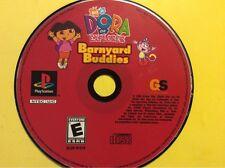 Playstation 1 PS1 Dora the Explorer Barnyard Buddies.  Disk Only.  FREE Shipping