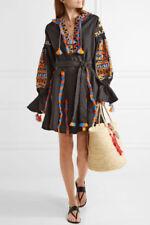 Ukrainian embroidered black dress boho style - folk ethnic vyshyvanka. All sizes