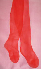 S Mary Quant Sheer Glass Poppy Red Tights NEW Vintage hosiery 8-10 sheen
