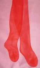 S Mary Quant Sheer Glas Mohn Rot Strumpfhose NEU Vintage Strumpfwaren 8-10 Glanz