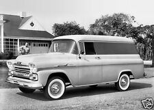 1958 Chevrolet Apache 31 Panel Van Press photo  8 x 10 Photograph