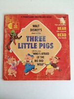 Walt Disney's Story Of The Three Little Pigs And Story Book 1965