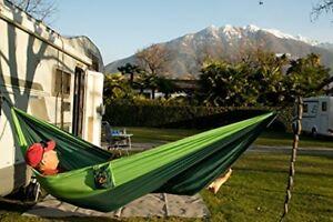 Camping Hammock Set -  Portable Single Parachute Silk Camping Hammock Set