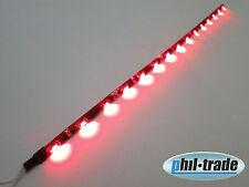 SMD LED Leiste Strip side shine leuchtet seitlich flach selbstklebend 30cm ROT