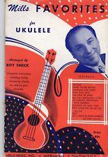 Mills Favorites for Ukulele arranged by Roy Smeck Sheet Music - Vintage 1950
