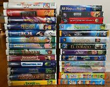 Children & Family VHS - Pick & Choose! DISNEY, NICKELODEON, DREAM WORKS, ETC.