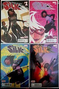 SILK (2016) #1-4 1ST PRINT EDITION THOMPSON-HERRING 4 Comic Lot NM/MT 9.6-9.8🔥