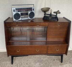 Retro G Plan Tola & Black Sideboard - Cocktail Cabinet - Vintage - Home Bar