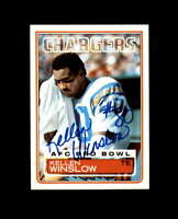 Kellen Winslow Hand Signed 1983 Topps San Diego Chargers Autograph