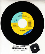 "DWIGHT YOAKAM  Little Sister & Little Ways 7"" 45 rpm record NEW + jukebox strip"