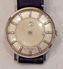 Vacheron Constantin LeCoultre 14K Gold Mystery Diamond Dial Wristwatch